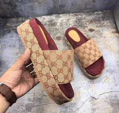 gucci slippers add whatsapp or wechat 0086 15271875544 to get more items Sandals Outfit, Cute Sandals, Sport Sandals, Women Sandals, Loafers Women, Women's Loafers, Beautiful Sandals, Gucci Slipper, Hype Shoes