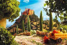 #FoodScapes, des paysages tout en fruits et légumes de l'artiste Carl Warner !