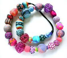 Polymer Totum Revolutum Necklace by SilviaOrtizDeLaTorre on Etsy, $140.00