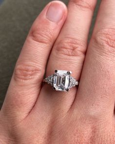 """Irene Byrne & Co on Instagram: """"Our HENNELL beauty features a magnificent 2.57ct emerald cut diamond with an outstanding E colour and VS1 clarity. Handmade in the Art…"""""""