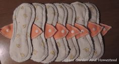 Great tutorial and free pattern for making feminine pads.
