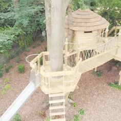 Rope Bridges and Treehouses tree house cheap tree house for adults tree house how to build tree house on the ground tree house plans Backyard Playground, Backyard For Kids, Backyard Zipline, Tree House Playground, Tree House Drawing, Tree House Plans, Tree House Deck, Garden Tree House, Simple Tree House