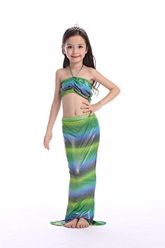 b7d48e4819 3 PCS Girls Mermaid Swimming 4 Color Swimwear Sequin Bikini Swimsuit Kids  Biquini Suit Children Bathing Suit Girl Costume Detailed information can be  found ...