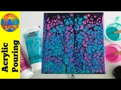 YouTube painting challenge - 3 color swipe - Acrylic Pouring