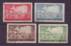 1952 AGRARIAN REFORM Agriculture China Chinese used Sc##128-131 SET