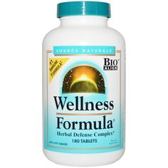 Source Naturals, Wellness Formula, With Andrographis and Propolis Extract, 180 Tablets - iHerb.com