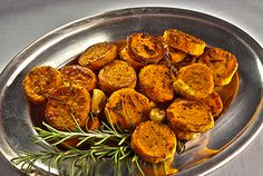 Roasted Sweet Potatoes with Garlic and Rosemary