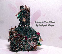 Evening in New Orleans beadwoven vintage by FireSpiritDesigns,