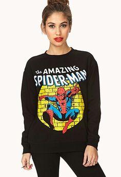 Forever 21 spider-man sweatshirt.