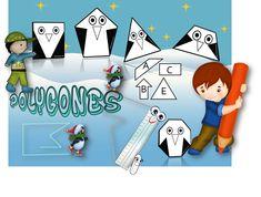 Etiquettes à plastifier pour le tableau : Vous aimez les pingouins…Moi aussi 😉 16 pingouins pour diverses activités de tri : polygone/ non polygone, nombre de côtés, jeu du portrait… GEOMETRIE PINGOUINS.ETIQUETTE TABLEAU J'ai ajouté des petites joues à tous les pingouins 😀  DIAPORAMA d'apprentissage : Les polygones PINGOUINS POLYGONES DIAPORAMA   FICHES …