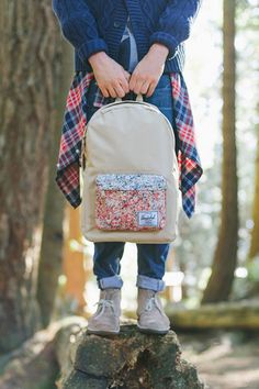 hershel backpack: so many cute styles.....love the front pouch in a different pattern