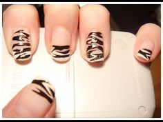 Nail Art Turorial (21): motyw zebry (zebra design)
