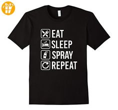 Spray Paint Graffiti - Eat Sleep Repeat T-Shirt Herren, Größe M Schwarz (*Partner-Link)