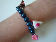 The English Tea Party Bracelet Blue by traceysjewellery on Etsy, Handmade Jewellery, Unique Jewelry, Handmade Gifts, Tea Party, Beaded Bracelets, English, Trending Outfits, Blue, Vintage