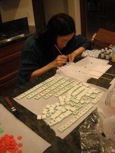 How to make Fondant Mahjong Cake