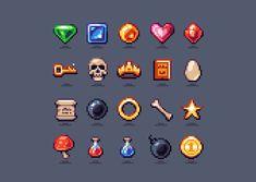 Game Collectable Pack - Pixelart by aamatniekss