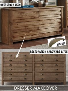 IHeart Organizing: UHeart Organizing: Heart Eyes for this High/Low Dresser Ikea Dresser Hack, Low Dresser, Dresser Ideas, Dressers, Rh Furniture, Furniture Makeover, Furniture Ideas, Diy Craft Projects, Home Projects