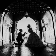 A Fairy Tale Wedding at Disney's Magic Kingdom. Disney Princess Marathon, Perfect Wedding, Dream Wedding, Elegant Wedding, Wedding Hair, Disneysea Tokyo, Cinderella Moments, Cinderella Wedding, Princess Wedding