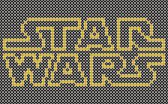 Plantillas Hama Beads - Star Wars (Logos) www.tuburbuja.es