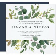 #Eucalyptus Grove Wedding Invitation | Square - #weddinginvitations #wedding #invitations #party #card #cards #invitation #winter