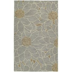 @Overstock.com - Hand-tufted Zoe Grey Floral Wool Rug (9' x 12') - Zoe is a warm and casual rug made with the finest wool and will be a great accent to your home decor. This stylish rug is hand-tufted with a chunky loop construction and lovely floral design.   http://www.overstock.com/Home-Garden/Hand-tufted-Zoe-Grey-Floral-Wool-Rug-9-x-12/8328224/product.html?CID=214117 $818.99