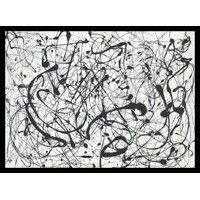 """""""No. 14: Gray"""" by Jackson Pollock Framed Painting Print"""