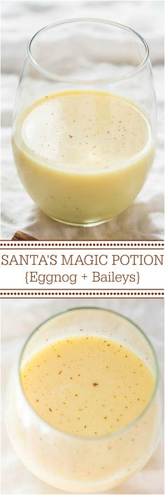 Santas Magic Potion (Eggnog Cocktail) Santa's Magic Potion {Eggnog and Baileys} Have eggnog to use? This drink is smooth creamy and puts your 'nog to great use! The post Santas Magic Potion (Eggnog Cocktail) appeared first on Getränk. Christmas Cocktails, Holiday Drinks, Party Drinks, Fun Drinks, Yummy Drinks, Holiday Recipes, Alcoholic Drinks, Holiday Parties, Christmas Drinks Alcohol