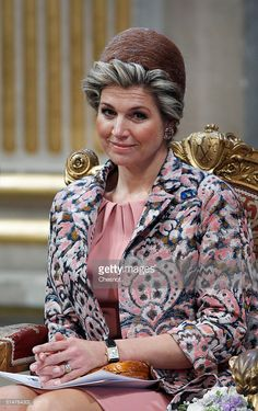 Queen Maxima of the Netherlands attends a ceremony at the Paris city hall on March 11, 2016 in Paris, France. Queen Maxima and King Willem-Alexander of the Netherlands are on a two-day state visit in France.  (Photo by Chesnot/Getty Images)
