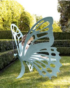 Butterfly bench for the garden