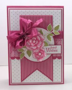 Another beautiful wedding card by Narelle Farrugia. Secret Garden, Summer Silhouettes, Petite Pairs, Primrose Petals dsp
