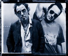 Joe Strummer and Bruce Springsteen