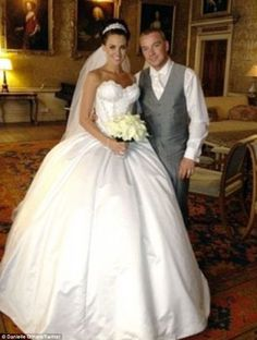 Wedded bliss: Danielle and Jamie O'Hara's wedding picture was removed from Danielle's Twit...