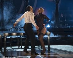 Smoking! Lingerie-clad Amber Rose bounceed back from last week's body shame controversy with a scintillating Cirque Du Soleil tango on Monday's DWTS