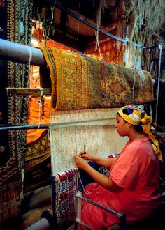 Beautiful rugs made by hand in Marrakech