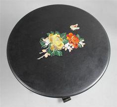 VICTORIAN PAPIER MACHE SIDE TABLE