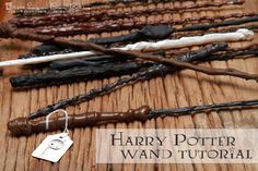 Wizard Wands (made with hot glue)
