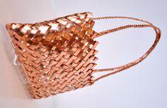 Anna Gedson Kura Gallery Maori Art Design New Zealand Weaving Copper Kete Medium
