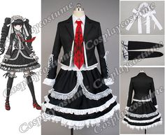 Danganronpa Dangan-Ronpa Celestia Ludenberg Dress Cosplay Costume