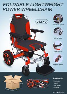 lightweight foldable power wheelchair YE246 YATTLL