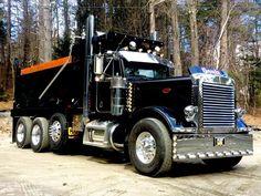 Big Rig Trucks, Tow Truck, Semi Trucks, Peterbilt Dump Trucks, Peterbilt 379, Custom Trucks, Custom Cars, Hydraulic Ram, Dump Trailers