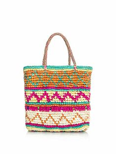 Mini multicolour woven straw bag | Sensi Studio | MATCHESFASHI...