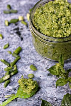 Garlic Scape Pesto | Easy to make and utterly addictive. You will want to top everything you make with this Pesto!