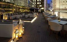 With a capacity of 230-250 on the terrace it's one of the largest rooftop bars in Hong Kong. Picture: Armani/Privé