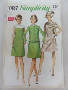1967 Vintage Suit Dress & Jacket Simplicity by DaisygatorHome