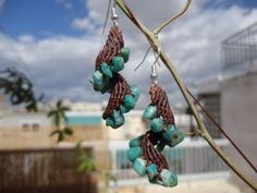 Crystal Spiral Macrame Earrings by MysticTrove on Etsy, $14.99