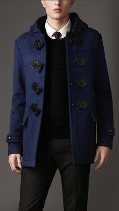 Burberry Seam Detail Duffle Coat. Love this coat!