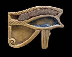 Eye of Horus (wedjat) amulet. Egyptian, Late Old Kingdom - Roman Period, 2323-30 B.C.
