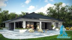 51 Ideas For Exterior House Bungalow Home Plans Bungalow Homes, Bungalow House Plans, Bungalow House Design, Modern House Design, House Plans Mansion, Dream House Plans, Home Styles Exterior, Casas Containers, Home Building Design