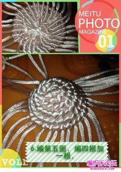 点击查看原图 Dandelion, Crochet Necklace, Cross Stitch Letters, Dots, Crochet Collar, Dandelions