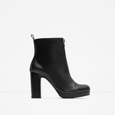 $ 139 - LEATHER HIGH HEEL ANKLE BOOTS WITH ZIP from Zara